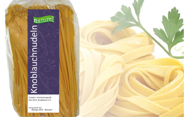 Knoblauch Nudeln 500g