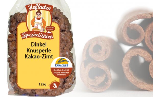 Dinkel Knusperle Kakao-Zimt 125g