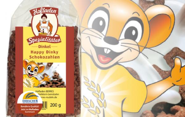 Happy Dinky Schokozahlen 200g